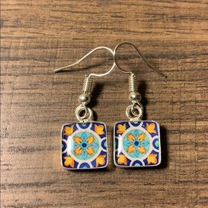 Earrings. Talavera style. Handcrafted.